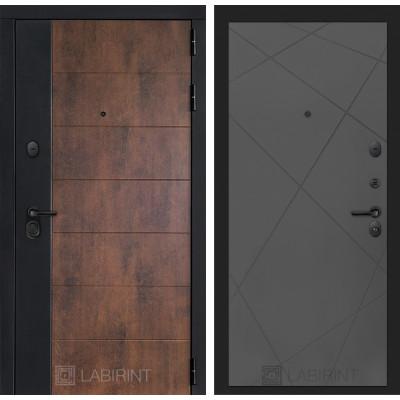 Стальная дверь Лабиринт Техно 24 (Графит софт)