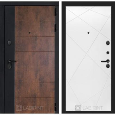 Стальная дверь Лабиринт Техно 24 (Белый софт)