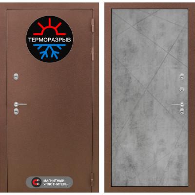 Стальная дверь Лабиринт Термо Магнит 24 (Бетон светлый)