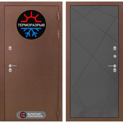 Стальная дверь Лабиринт Термо Магнит 24 (Графит софт)