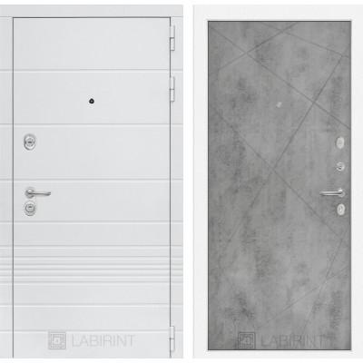 Стальная дверь Лабиринт TRENDO 24 (Бетон светлый)