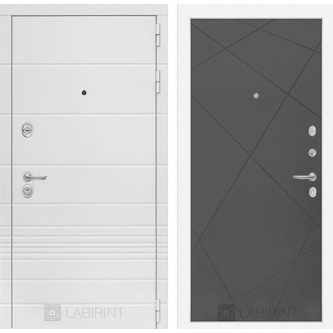 Стальная дверь Лабиринт TRENDO 24 (Графит софт)
