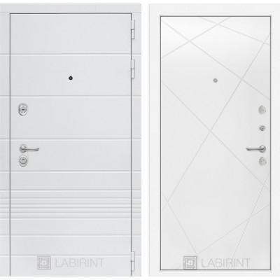 Стальная дверь Лабиринт TRENDO 24 (Белый софт)