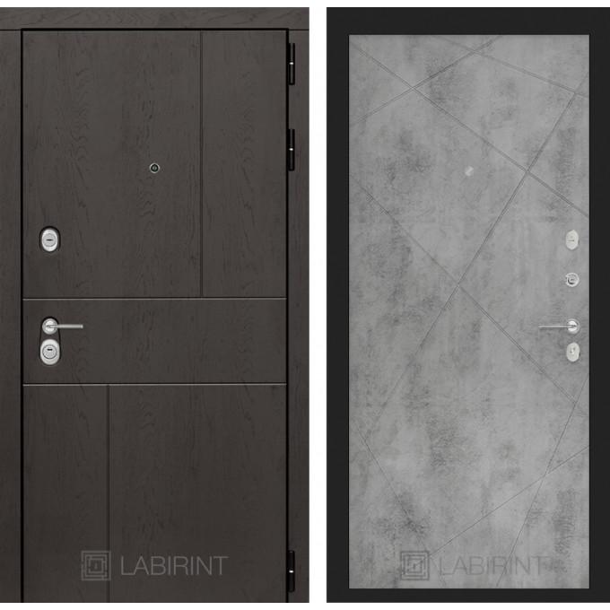 Стальная дверь Лабиринт URBAN 24 (Бетон светлый)
