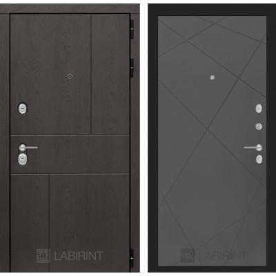 Стальная дверь Лабиринт URBAN 24 (Графит софт)