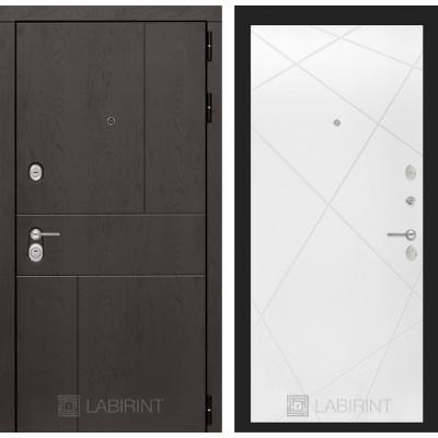 Стальная дверь Лабиринт URBAN 24 (Белый софт)