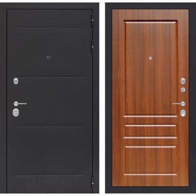 Стальная дверь Лабиринт LOFT 03 (Орех бренди)