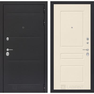 Стальная дверь Лабиринт LOFT 03 (Крем софт)