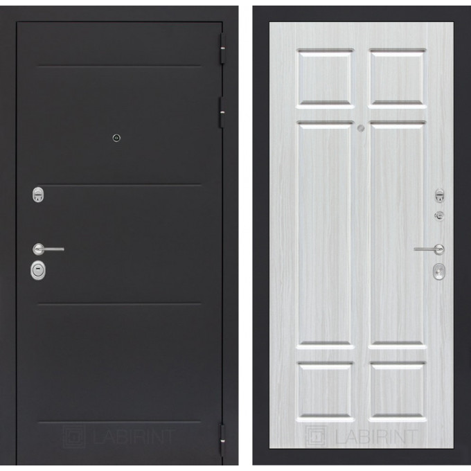 Стальная дверь Лабиринт LOFT 08 (Кристалл вуд)