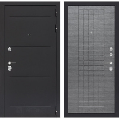 Стальная дверь Лабиринт LOFT 09 (Лен сильвер грей)