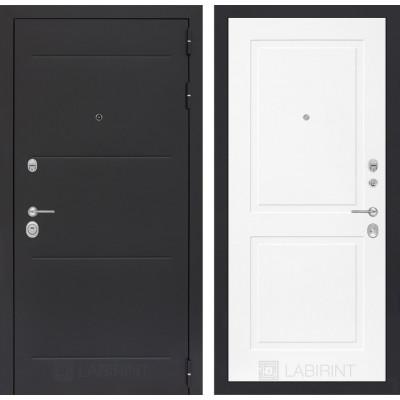 Стальная дверь Лабиринт LOFT 11 (Белый софт)