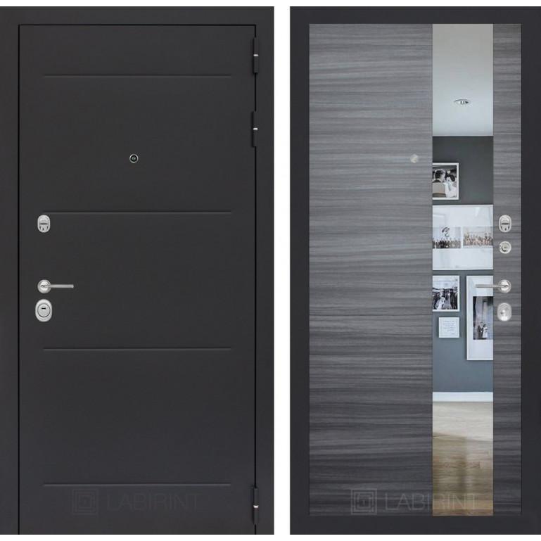 Стальная дверь Лабиринт LOFT с зеркалом (Сандал серый)