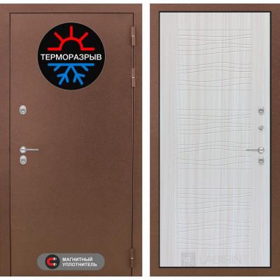 Стальная дверь Лабиринт Термо Магнит 06 (Сандал белый)