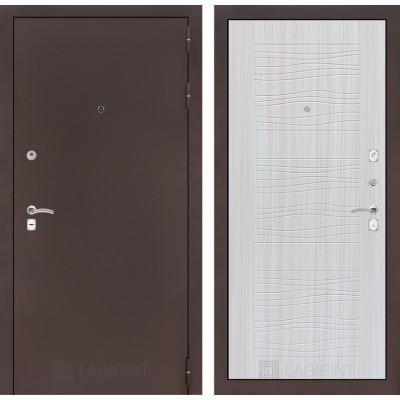 Дверь Лабиринт Classic 06 (Антик медный / Сандал белый)