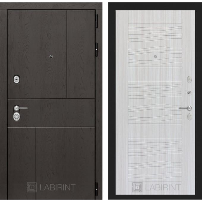 Стальная дверь Лабиринт URBAN 06 (Сандал белый)