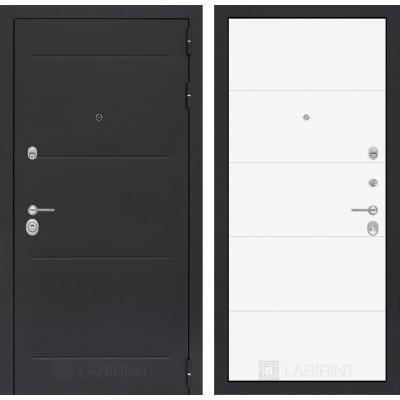 Стальная дверь Лабиринт LOFT 13 (Белый софт)