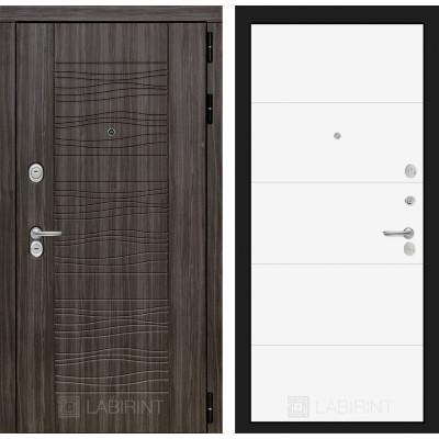 Стальная дверь Лабиринт SCANDI 13 (Белый софт)