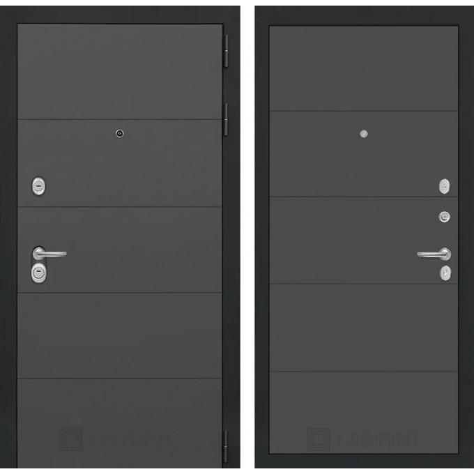 Стальная дверь Лабиринт ART 13 (Графит софт)