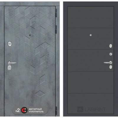 Стальная дверь Лабиринт Бетон 13 (Графит софт)