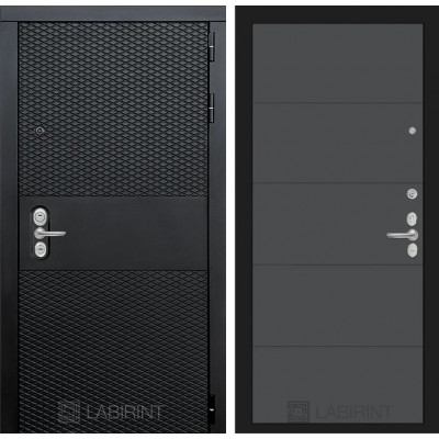 Стальная дверь Лабиринт BLACK 13 (Графит софт)