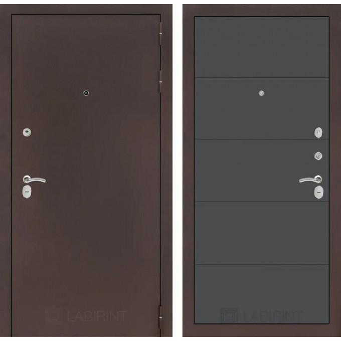Дверь Лабиринт Classic 13 (Антик медный / Графит софт)