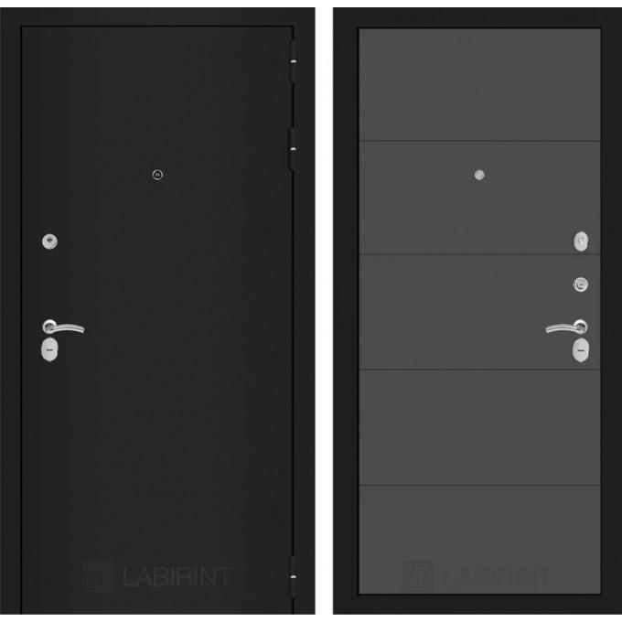Дверь Лабиринт Classic 13 (Шагрень черная / Графит софт)