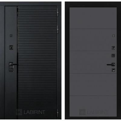 Стальная дверь Лабиринт Пиано 13 (Графит софт)