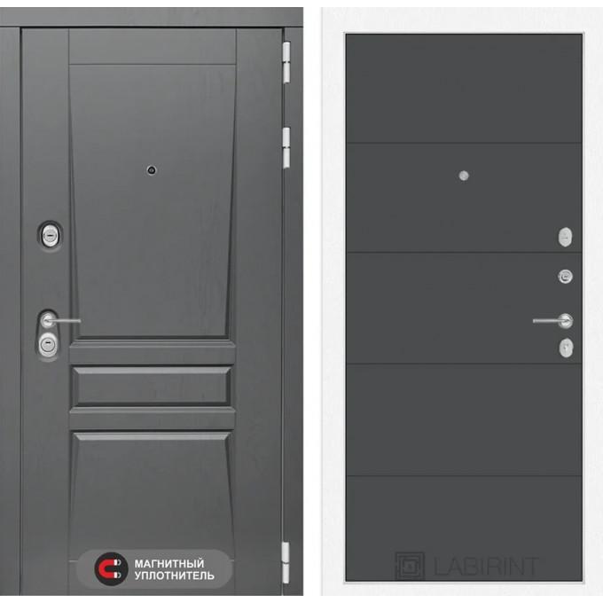 Стальная дверь Лабиринт Платинум 13 (Графит софт)