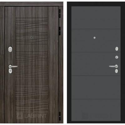 Стальная дверь Лабиринт SCANDI 13 (Графит софт)