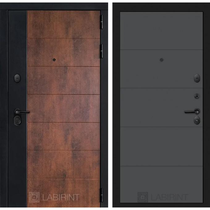 Стальная дверь Лабиринт Техно 13 (Графит софт)