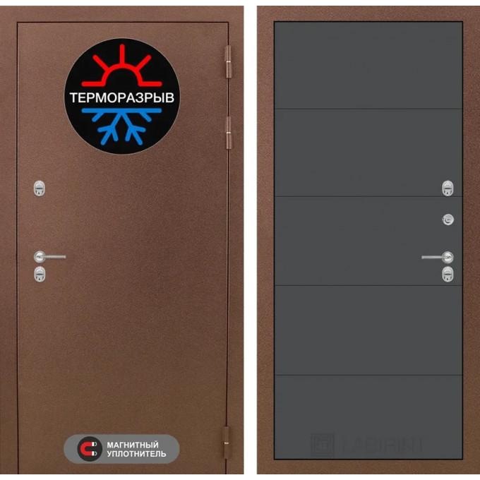 Стальная дверь Лабиринт Термо Магнит 13 (Графит софт)