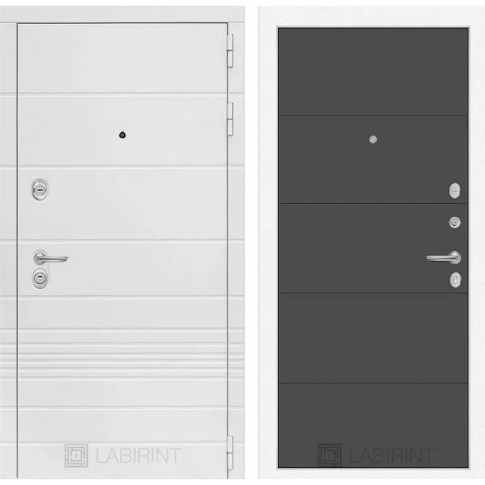 Стальная дверь Лабиринт TRENDO 13 (Графит софт)