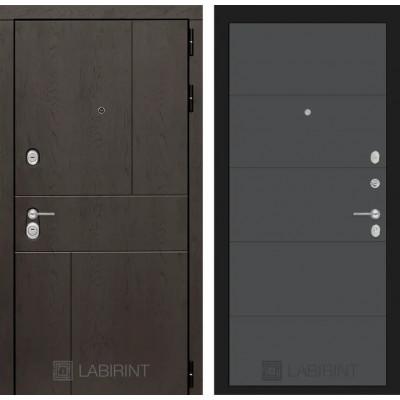Стальная дверь Лабиринт URBAN 13 (Графит софт)
