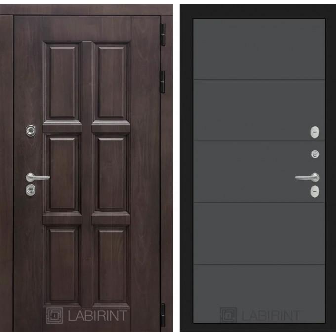 Стальная дверь Лабиринт Лондон с терморазрывом 13 (Графит софт)