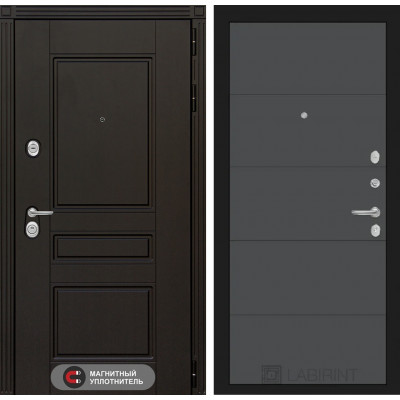 Стальная дверь Лабиринт Мегаполис 13 (Графит софт)