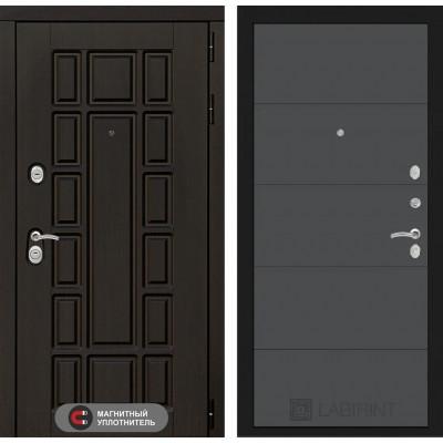 Стальная дверь Лабиринт NEW YORK 13 (Графит софт)