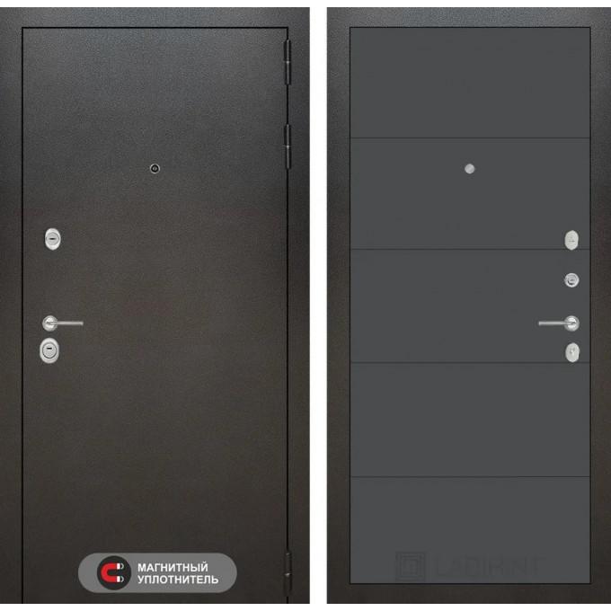 Стальная дверь Лабиринт SILVER 13 (Графит софт)