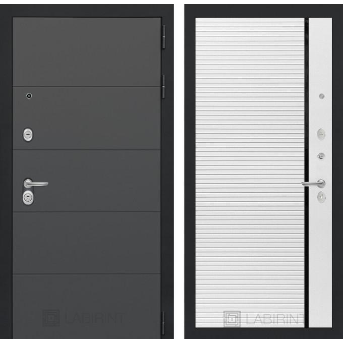 Стальная дверь Лабиринт ART 22 (Белый софт)