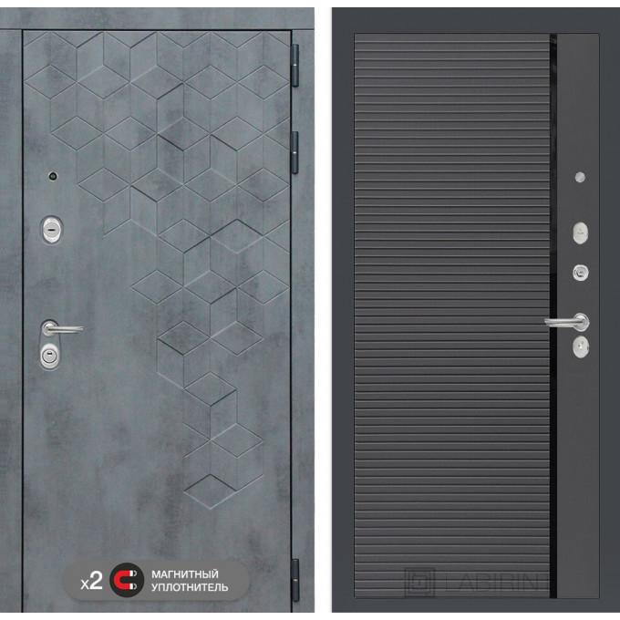 Стальная дверь Лабиринт Бетон 22 (Графит софт)