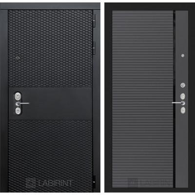 Стальная дверь Лабиринт BLACK 22 (Графит софт)