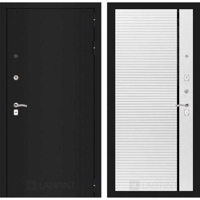 Дверь Лабиринт Classic 22 (Шагрень черная / Белый софт)