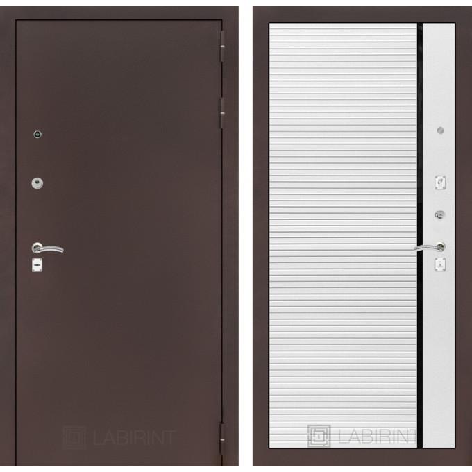 Дверь Лабиринт Classic 22 (Антик медный / Белый софт)