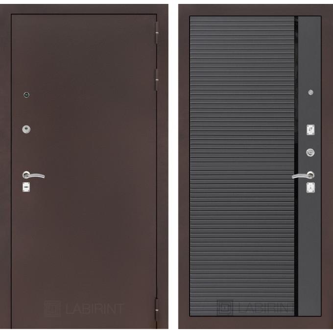 Дверь Лабиринт Classic 22 (Антик медный / Графит софт)