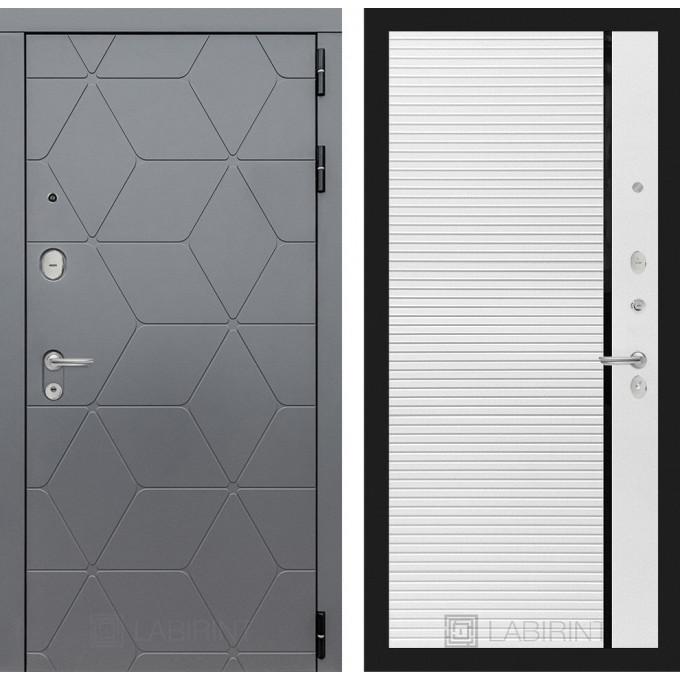 Стальная дверь Лабиринт COSMO 22 (Белый софт)