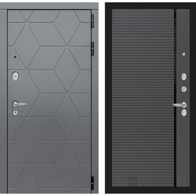 Стальная дверь Лабиринт COSMO 22 (Графит софт)