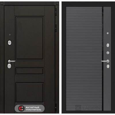 Стальная дверь Лабиринт Мегаполис 22 (Графит софт)