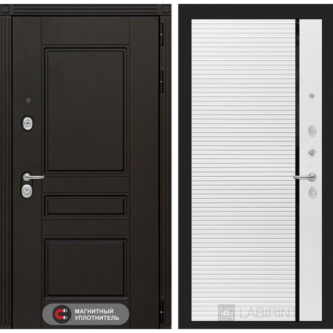 Стальная дверь Лабиринт Мегаполис 22 (Белый софт)