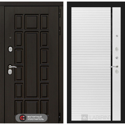 Стальная дверь Лабиринт NEW YORK 22 (Белый софт)