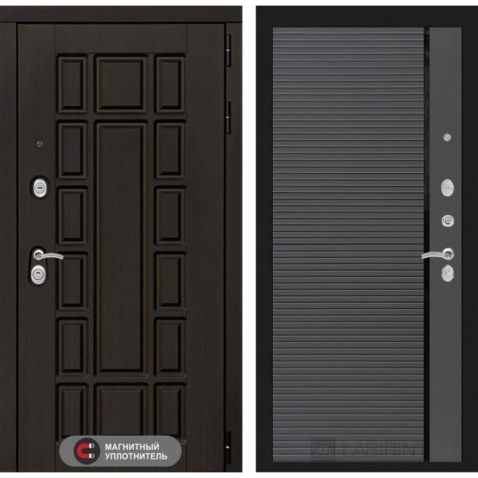 Стальная дверь Лабиринт NEW YORK 22 (Графит софт)