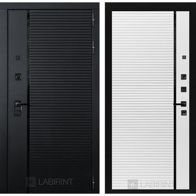 Стальная дверь Лабиринт Пиано 22 (Белый софт)